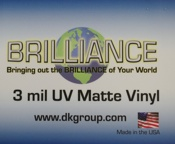 D&K Brilliance Pressure Sensitive UV Matte Vinyl Laminate