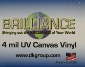 D&K Brilliance Pressure Sensitive UV Canvas Vinyl Laminate