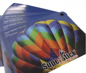 Picture of superstick wide format lamination samples