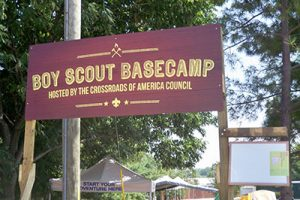 Boy Scout Camp sign