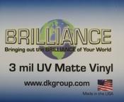 D&K Brilliance Pressure Sensitive UV Matte Vinyl Laminate