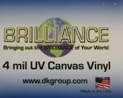 D&K Brilliance Pressure Sensitive UV Canvas Vinyl Laminate