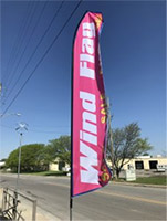 Custom printed wind flag